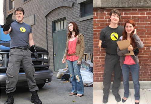 Librarian Storm Kopitsch and her husband cosplay as Penny and Captain Hammer from Dr. Horrible's Sing-Along Blog.